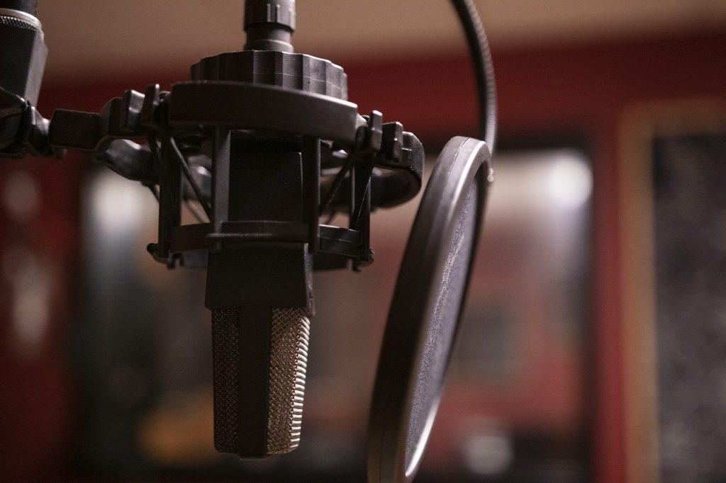 Equipment zur Podcast-Aufnahme
