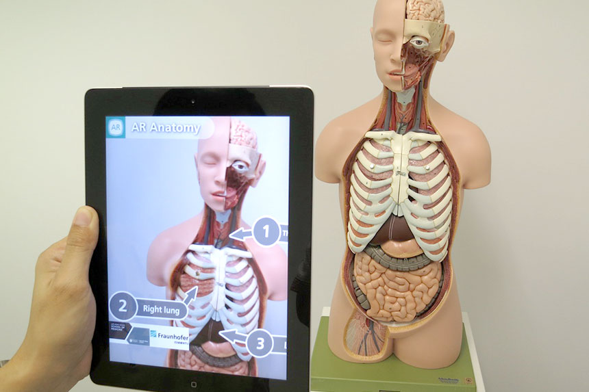 Wissenschaftskommunikation: Augmented Reality auf einem Tablet